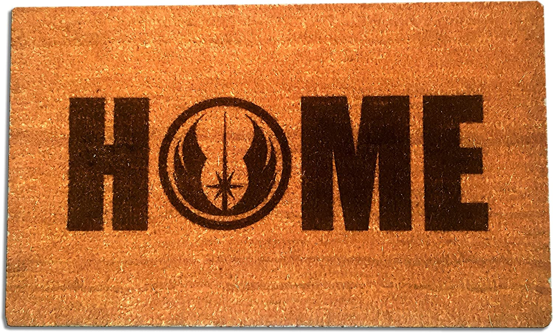 """Star Wars Jedi Order Home Laser Engraved Coir Fiber Doormat 30"""" x 18"""""""