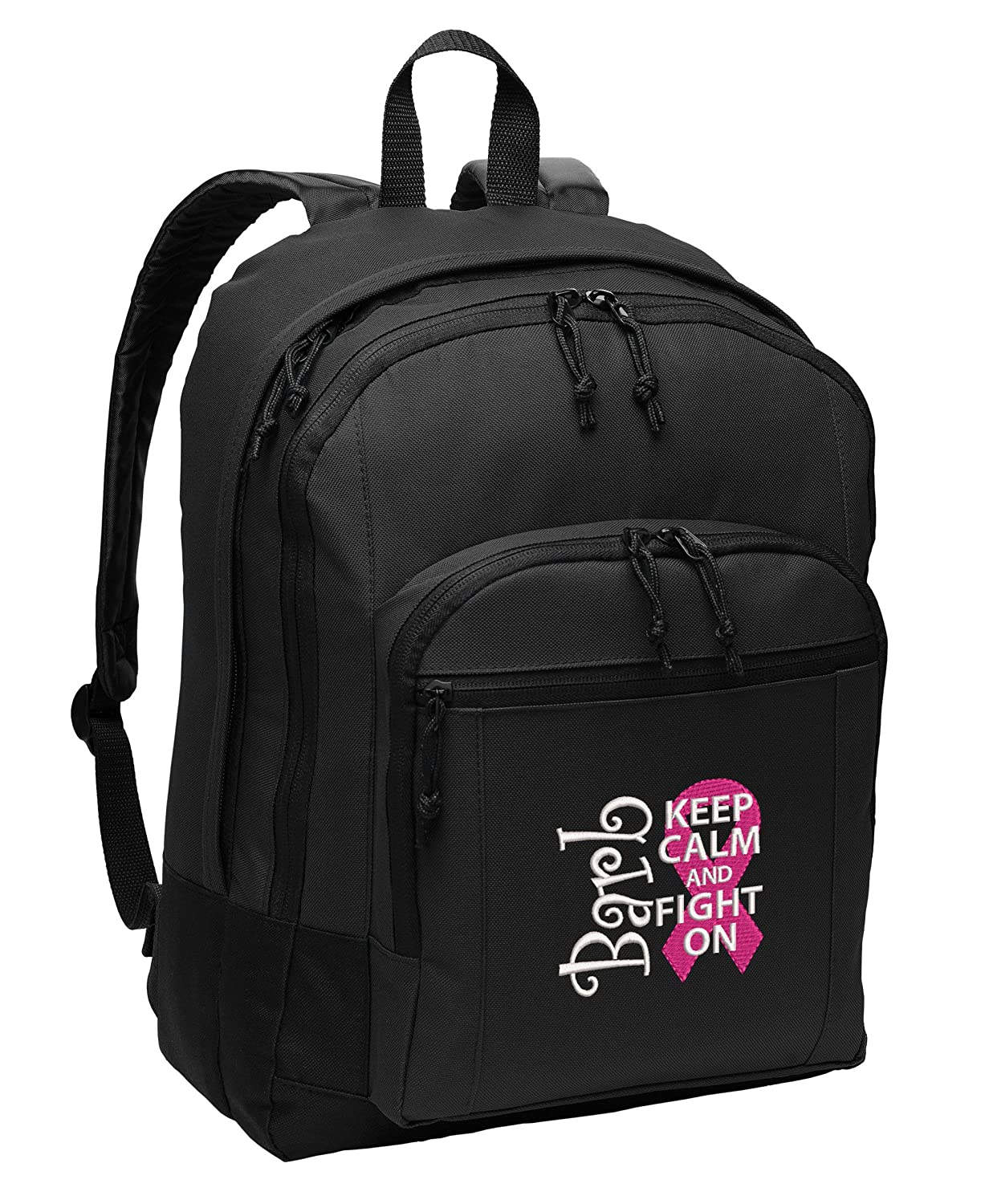Breast Cancer Awareness Personalized Embroidered Back Pack