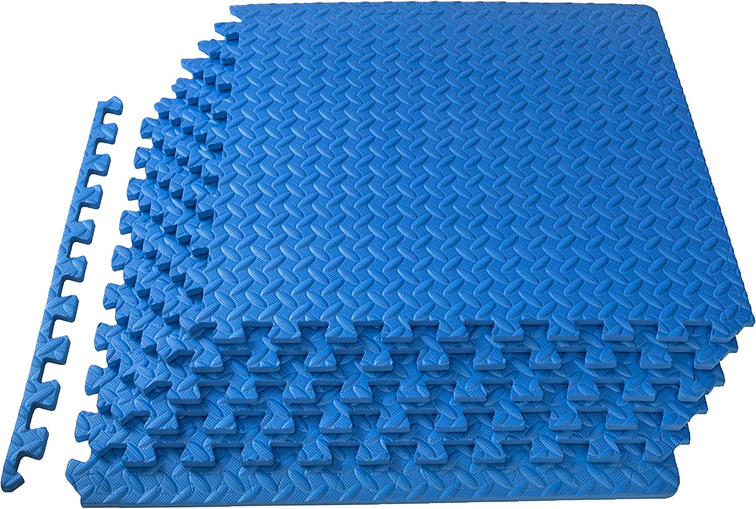 ProsourceFit Extra Thick Puzzle Exercise Mat1/2, EVA Foam Interlocking Tiles for Protective, Cushioned Workout Flooring for Home and Gym Equipment, Blue : Sports & Outdoors