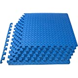 """ProsourceFit Puzzle Exercise Mat ½"""", EVA Foam Interlocking Tiles Protective Flooring for Gym Equipment and Cushion for Workou"""