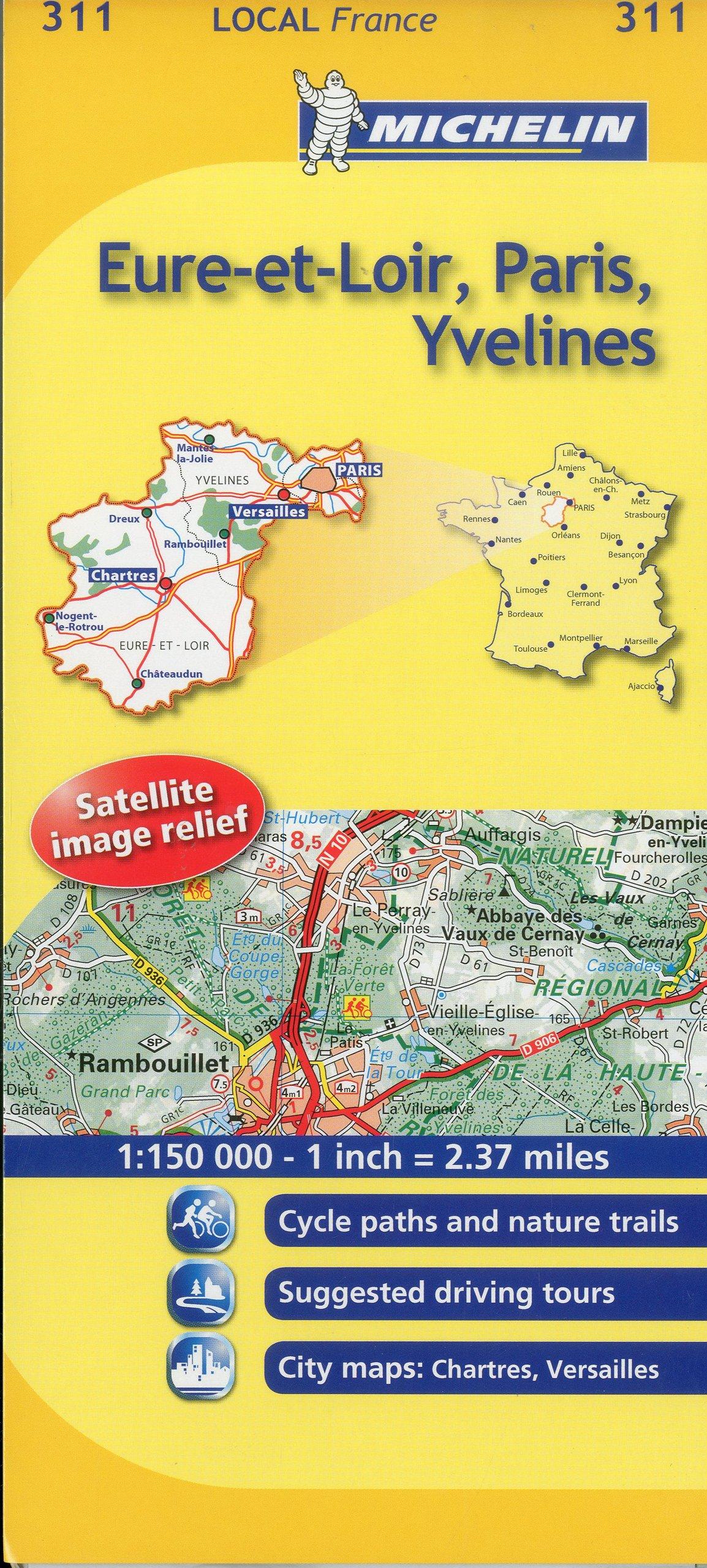 Map Of Yvelines France.Michelin Map France Eure Et Loir Paris Yvelines 311 Maps Local
