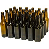 North Mountain Supply 12 Ounce Long-neck Amber Beer Bottles - Case of 24