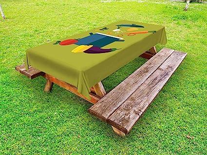 Miraculous Amazon Com Ambesonne Vegetable Art Outdoor Tablecloth Interior Design Ideas Gentotryabchikinfo