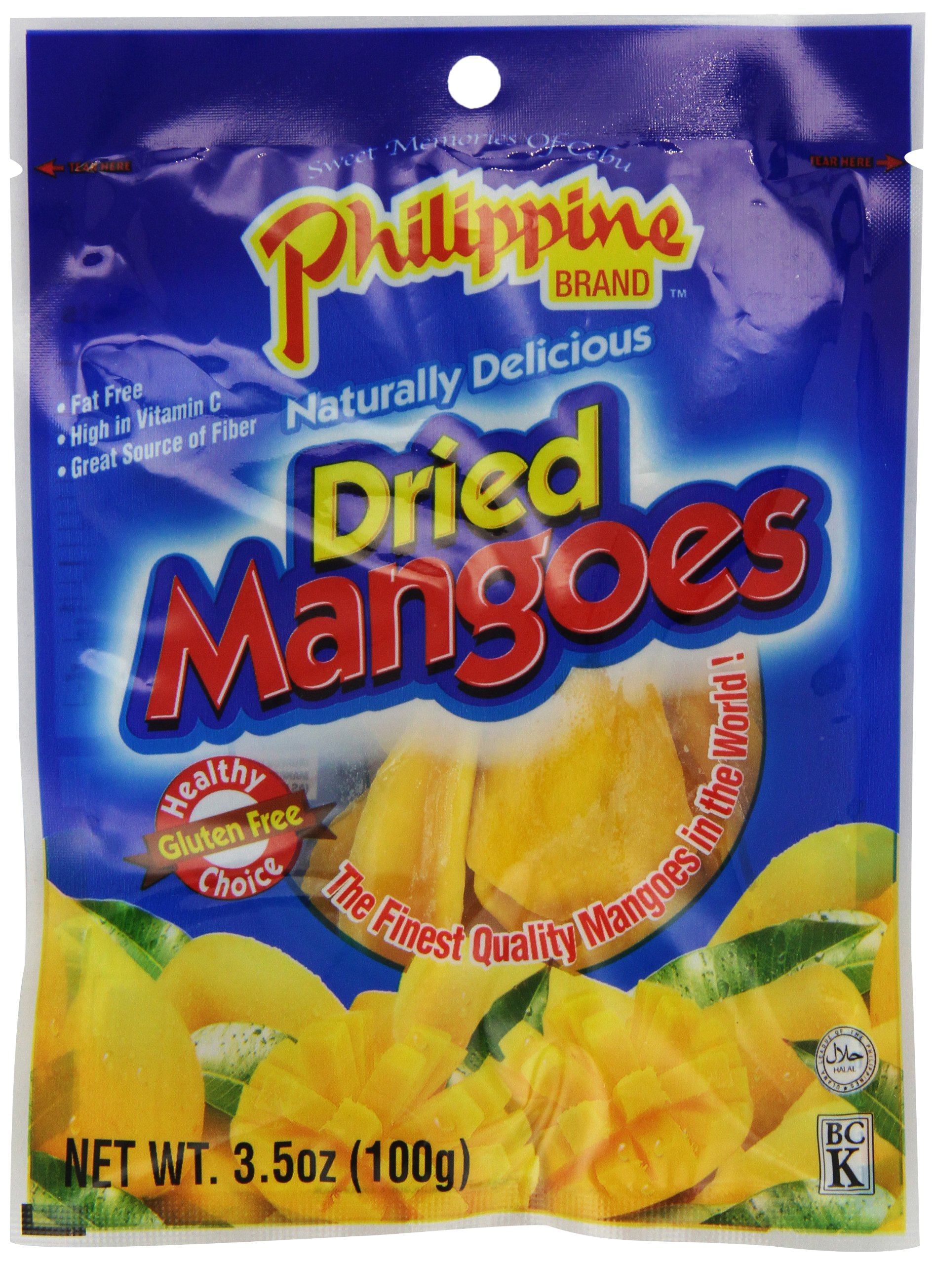 Philippine BRAND Dried Mangoes, 3.5-Ounce (Pack of 25) by Philippine