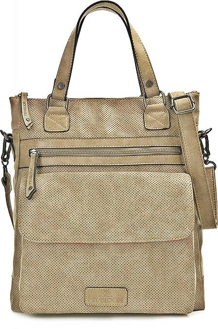 MIYA BLOOM, bolsos de señora, bolsas de compras, carteras, bandoleras, 33 x 36 x 10 cm (AN x AL x pr), color: arena: Amazon.es: Equipaje