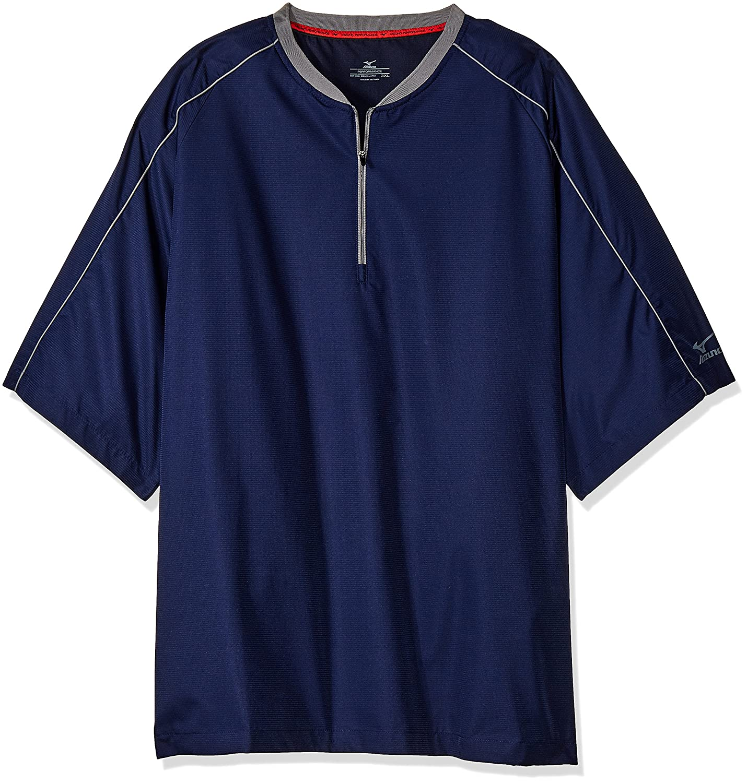 Mizuno Comp半袖中綿ジャケット B01IWCEL7U LARGE (L)|ネイビー ネイビー LARGE (L)