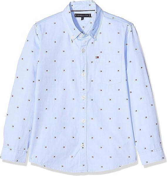 Tommy Hilfiger Flag Oxford Shirt L/S Camisa para Niños: Amazon.es: Ropa y accesorios