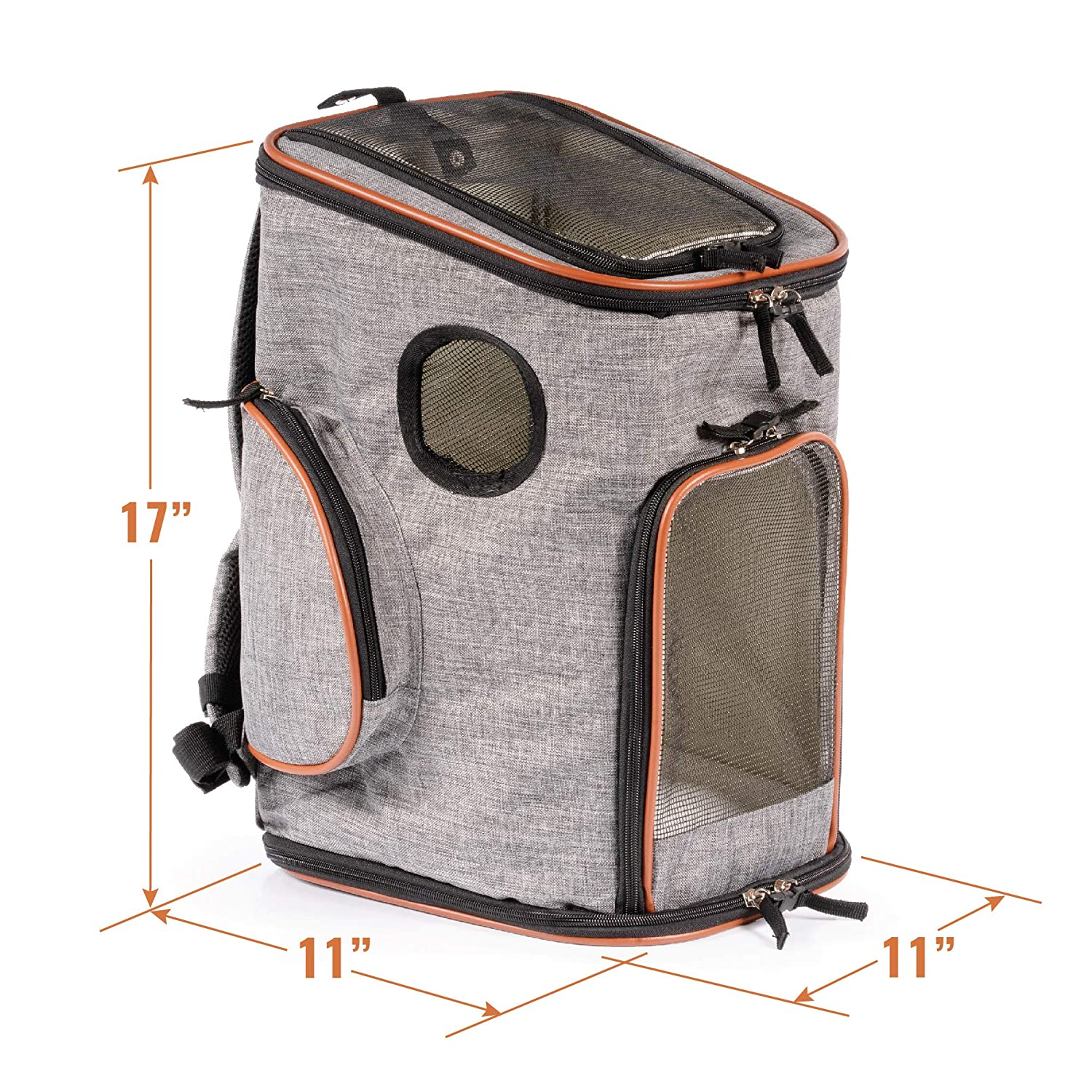 Pawfect Pets Soft-Sided Pet Carrier Backpack for Small Dogs and Cats Airline-Approved, Designed for Travel, Hiking, Walking Outdoor Use