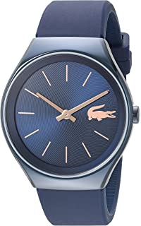Lacoste Womens Valencia Quartz Resin and Silicone Watch, Color:Blue (Model