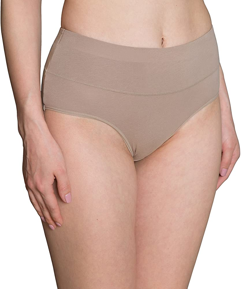 INNERSY Womens High Waisted Underwear Cotton Plus Size Ladies Panties 5-Pack