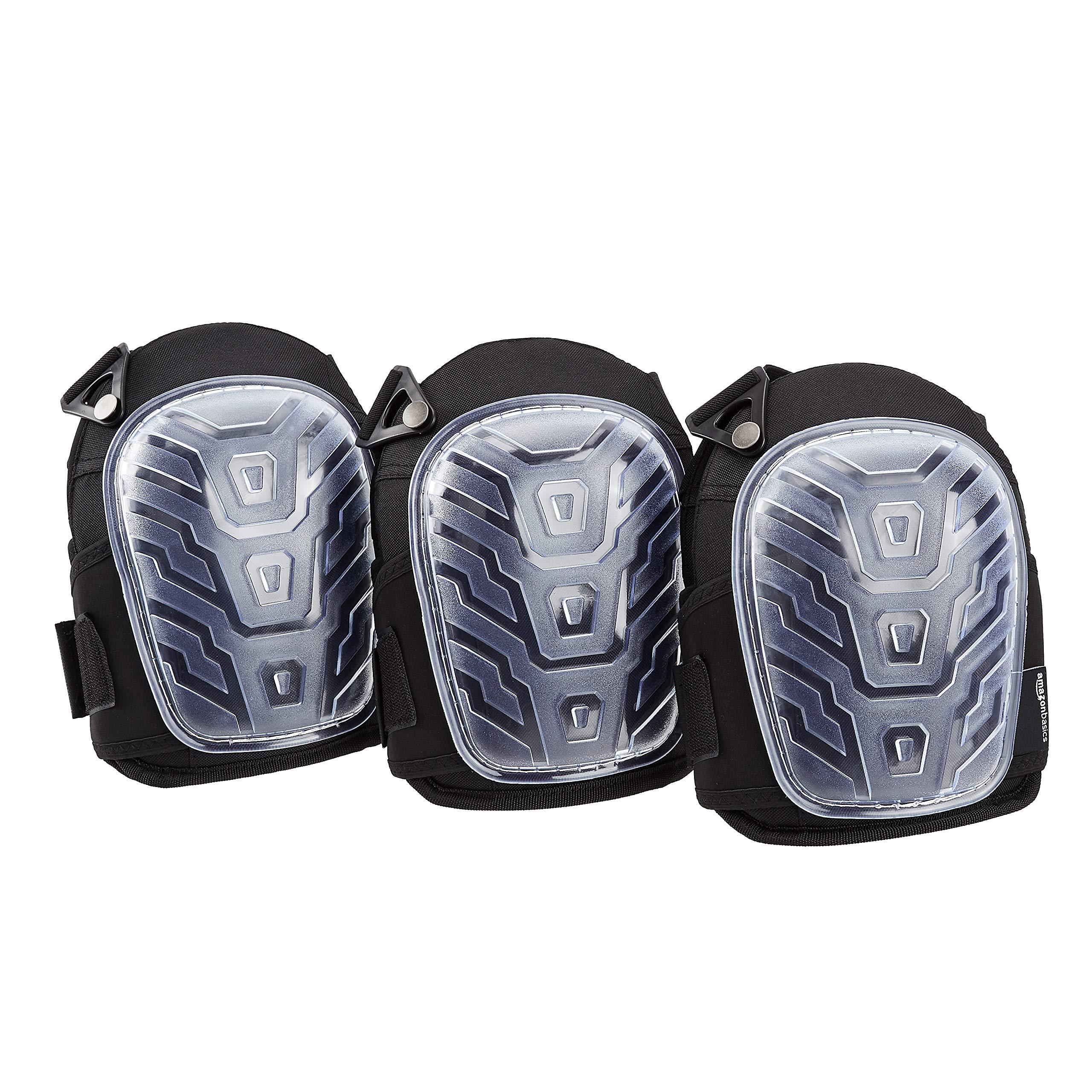 AmazonBasics Professional Gel Cushion Knee Pads - 3 Pair, Clear