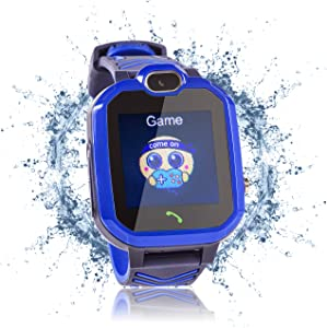 Kids Smart Watch with Alarm Clock 7 Game Camera Music Player Phone for Kids - Kids Smart Watch Boys and Girls - Touch Screen, Waterproof, Outdoor Clock - Blue Toy - Outdoor Game Boy Toy - Phone Watch