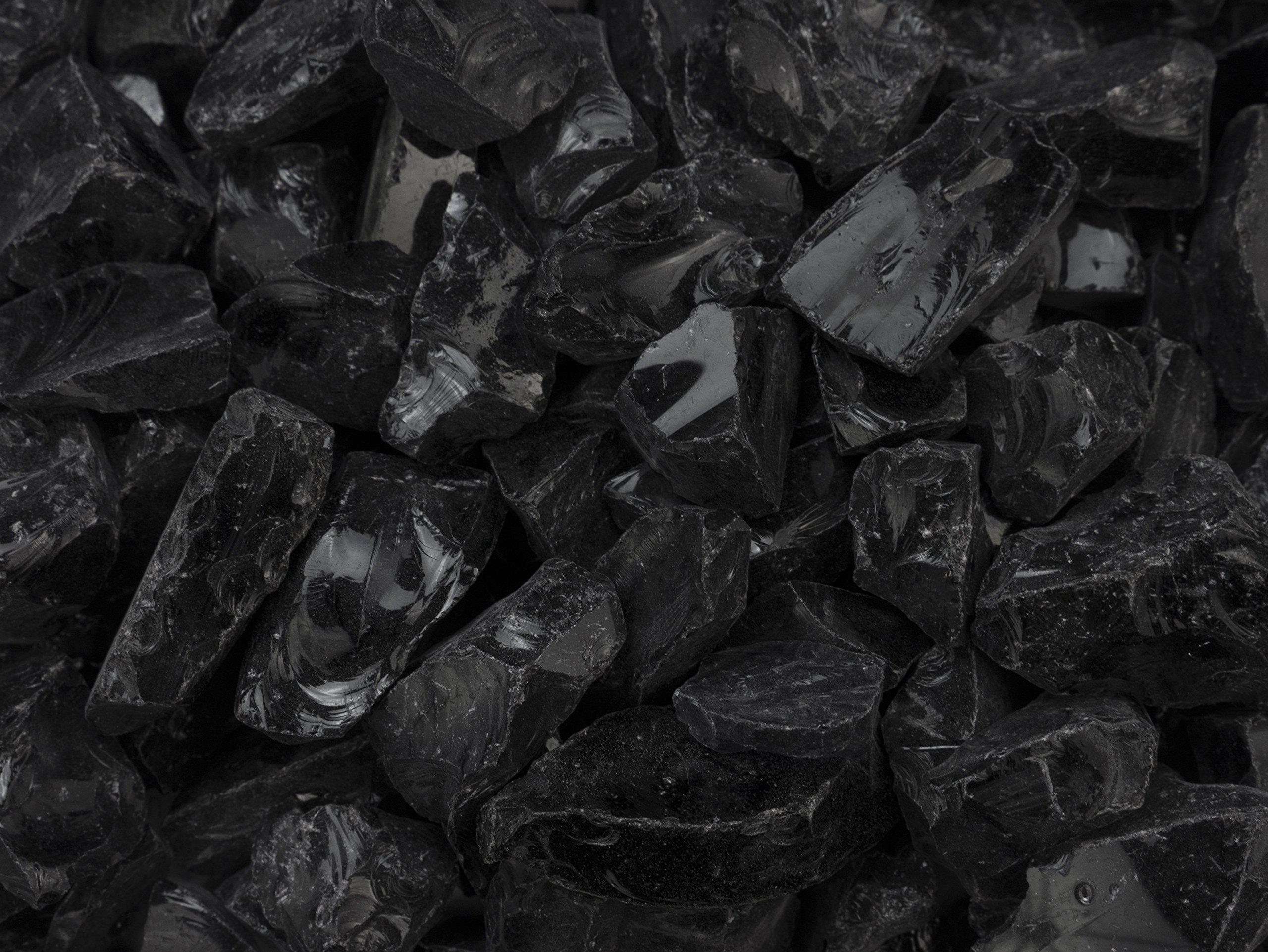 EcoSmart Fire ESF.1.A.CGM Decorative Rock Fireplace, Black