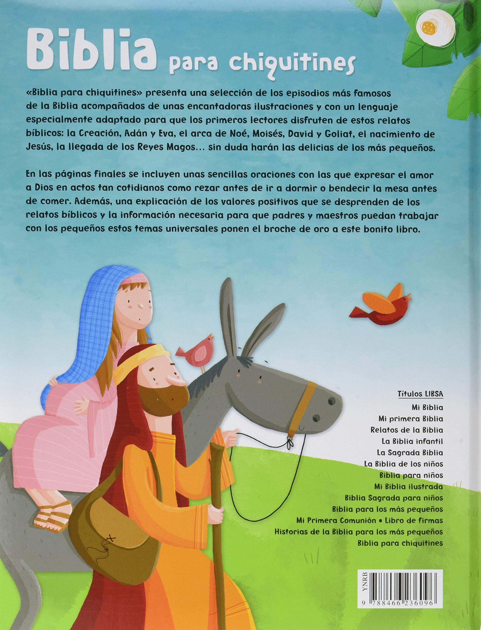 Biblia para Chiquitines (Biblias Infantiles): Amazon.es: Equipo Editorial: Libros