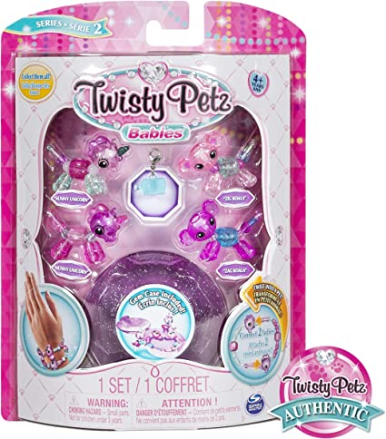 Twisty Petz Babies Collectible Bracelet Set Unicorns /& Puppies 4-Pack