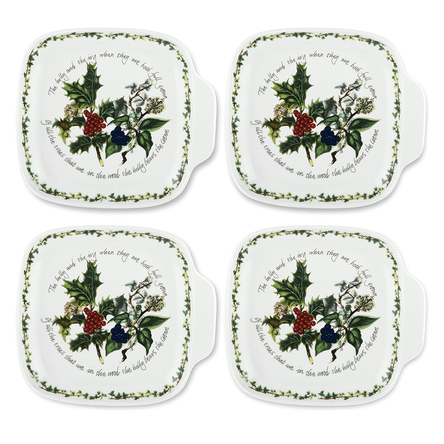 Christmas Holly Appetizer Plates