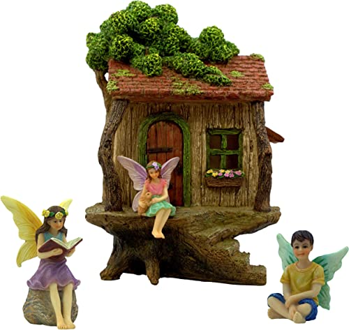 New Garden Pixie Ready to Take Off Fairy Garden Miniature Dollhouse Magic Scene Supplies Accessories Dia- 0730N
