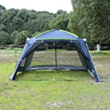 Outsunny 12u0027x12u0027x7u0027 5-8 Persons Portable Outdoor C&ing Tent Water : dining tent with rain flaps - memphite.com