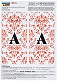 Graphics and More Letter A Initial Damask Elegant
