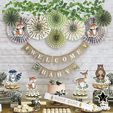 Woodland Theme Woodland Party Decor Door Sign Baby Shower Sign Woodland Banner Baby Shower Banner Woodland Baby Shower
