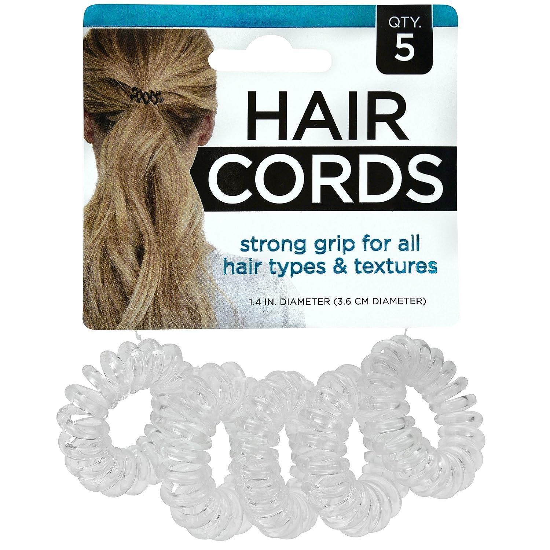 S&T Hair Cord Ties & Bracelet, 5 Pack, 0.06 lb 594001