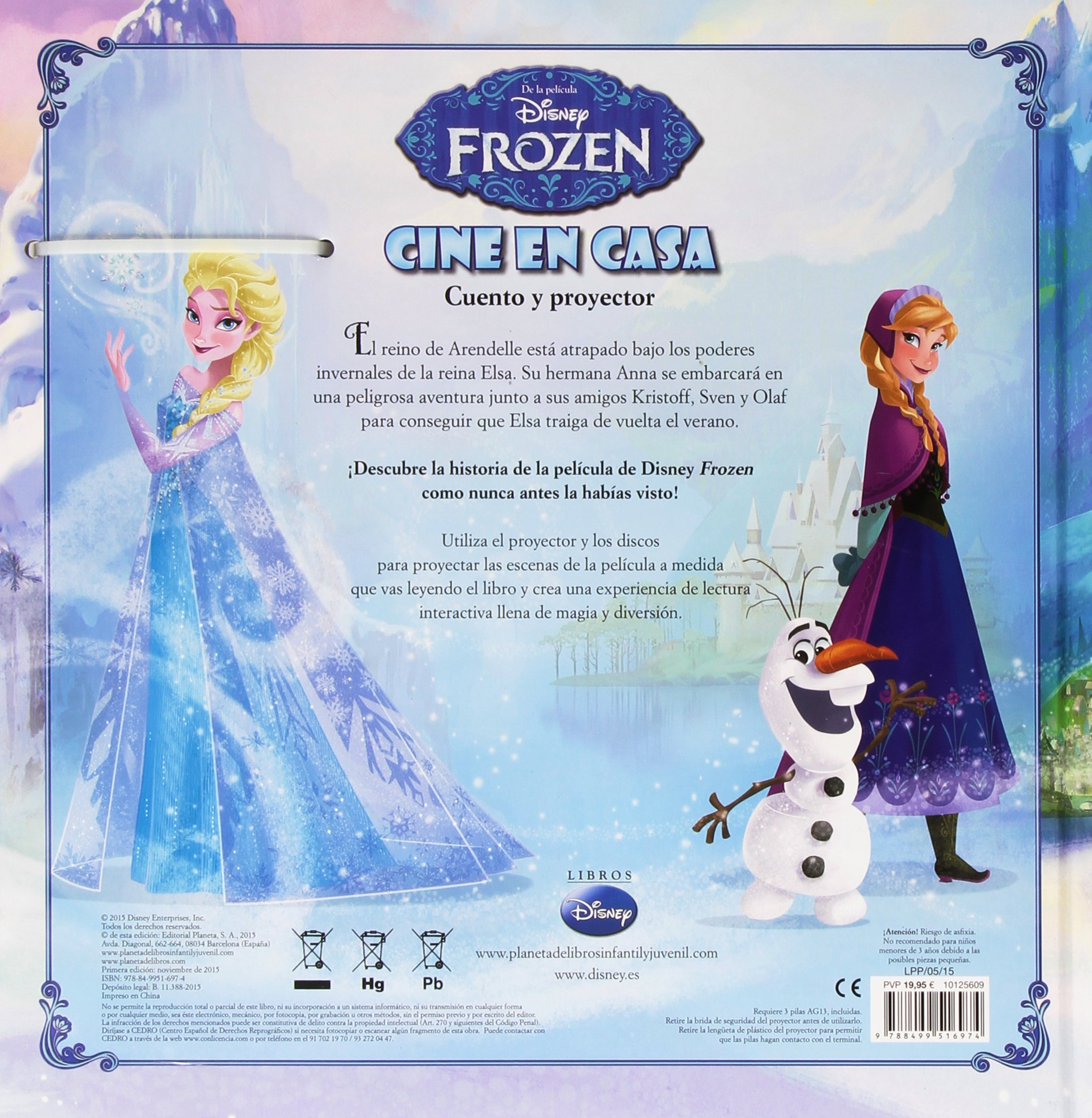 Frozen. Cine en casa: Disney: 9788499516974: Amazon.com: Books