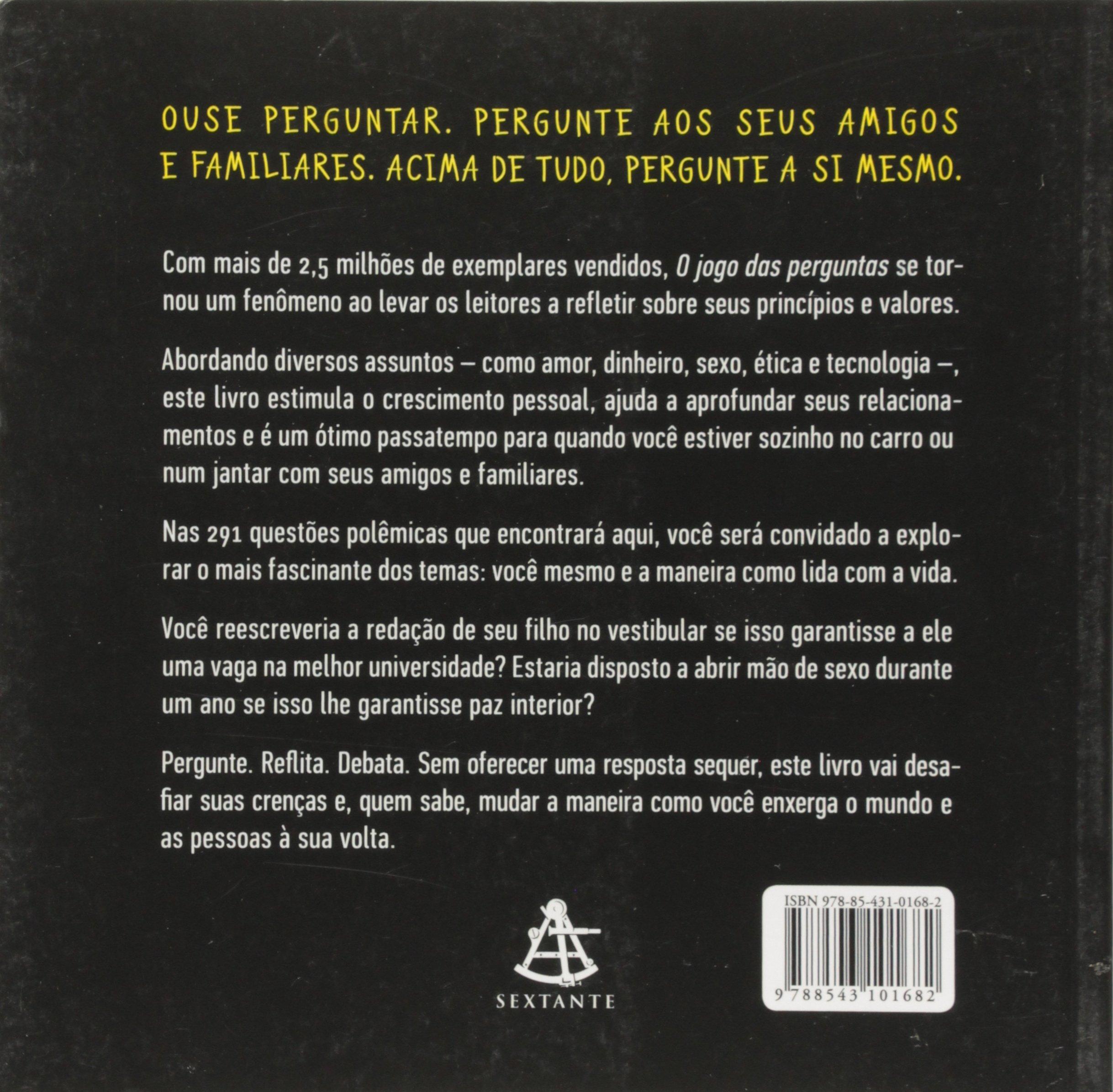 O Jogo Das Perguntas 291 Questoes Instigantes Para Voce Nunca Ficar Sem Assunto Em Portuguese Do Brasil Amazon Co Uk Gregory Stock Ph D 9788543101682 Books