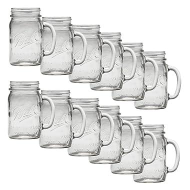 Ball Regular Mouth Drinking Mason Jar, 16 Oz 12 Pack