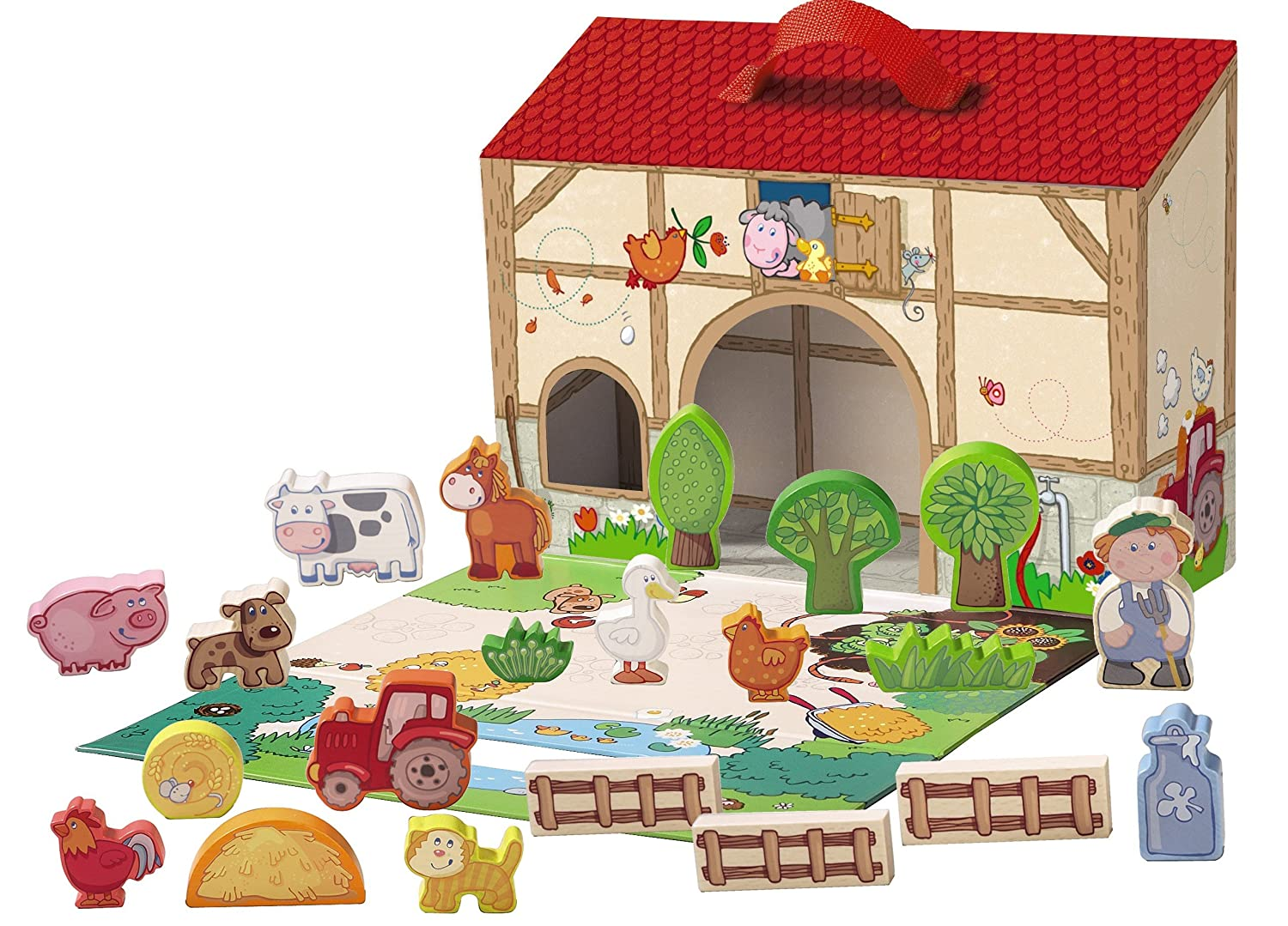 Haba Farming Around With Portable Wooden Farm House With 22