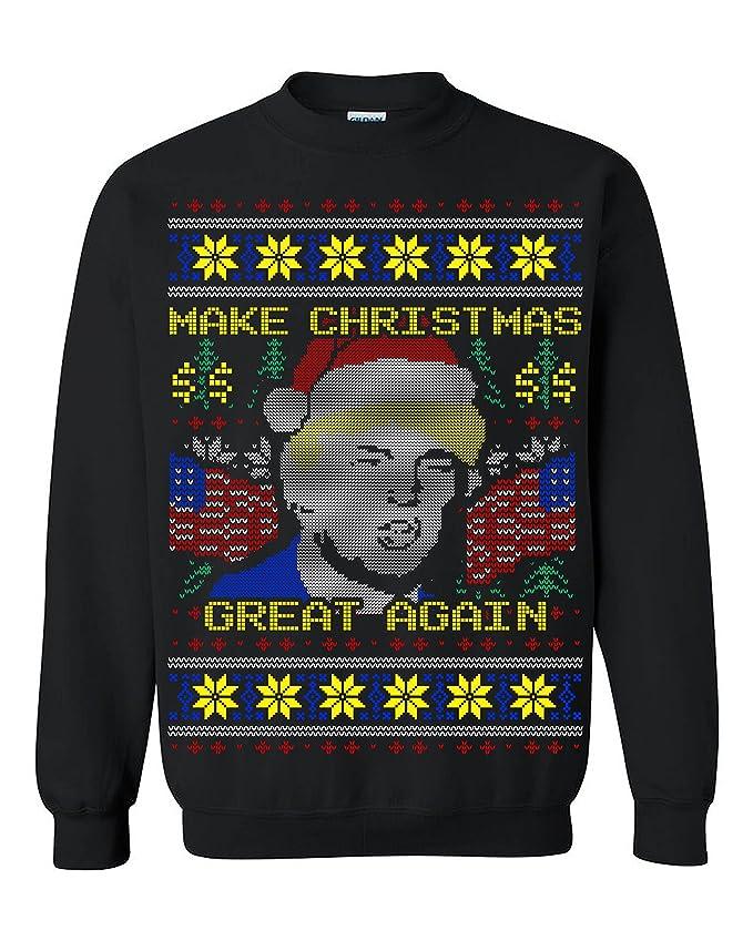 Foute Kersttrui 5xl.Amazon Com Donald Trump Make Christmas Great Again Ugly Christmas
