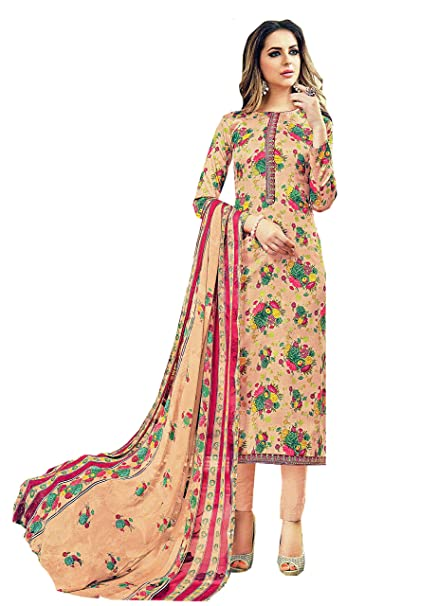 c2cc6d8fc1 Sajawat creation Latest Designer and Stylish Un Stitched Suit for Womens:  Amazon.in: Clothing & Accessories