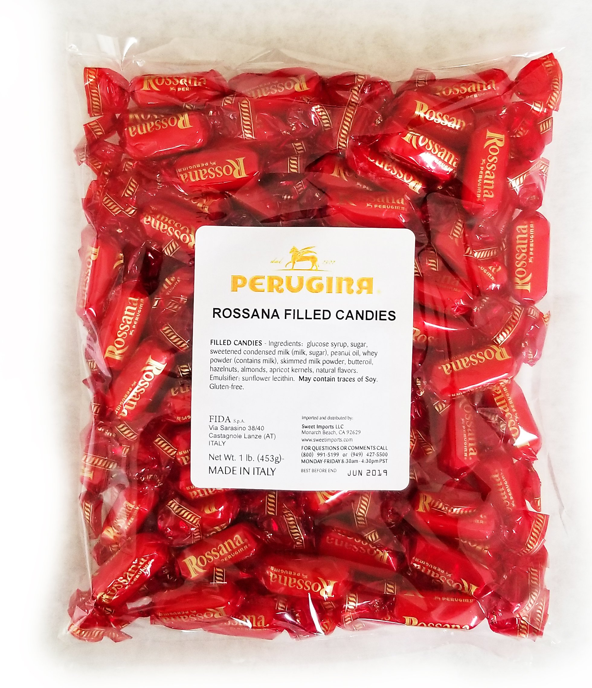 Amazon.com : Perugina Rossana Hard Candies, 1 Pound Bag : Italian Candy : Grocery & Gourmet Food