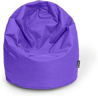 BuBiBag Pouf a Forma di Goccia con Imbottitura Made in Germany Beanbag Cuscino per in & Outdoor XL 300Litri–con Imbottitura in polistirolo in 23Tenendo. Colori, Lila, X-Large