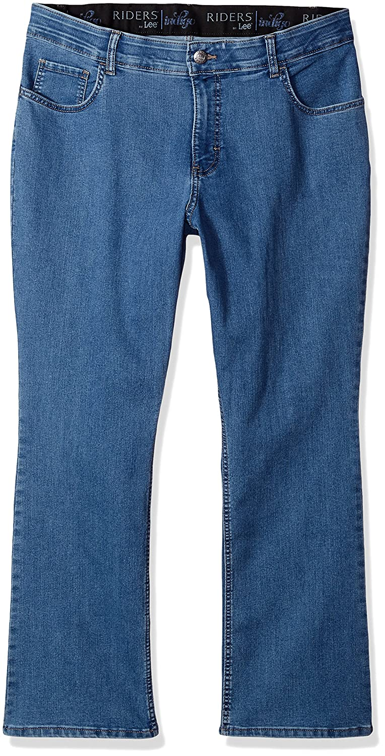 50af7f76ff7 Riders by Lee Indigo Women s Plus Size Stretch No Gap Waist Bootcut Jean at  Amazon Women s Jeans store