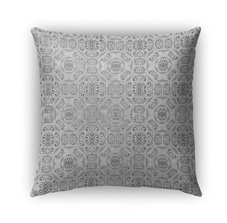 KAVKA Designs Bilbao Indoor-Outdoor Pillow, (Grey) - Parisian Collection, Size: 16X16X6 - (TELAVC1423OP16)