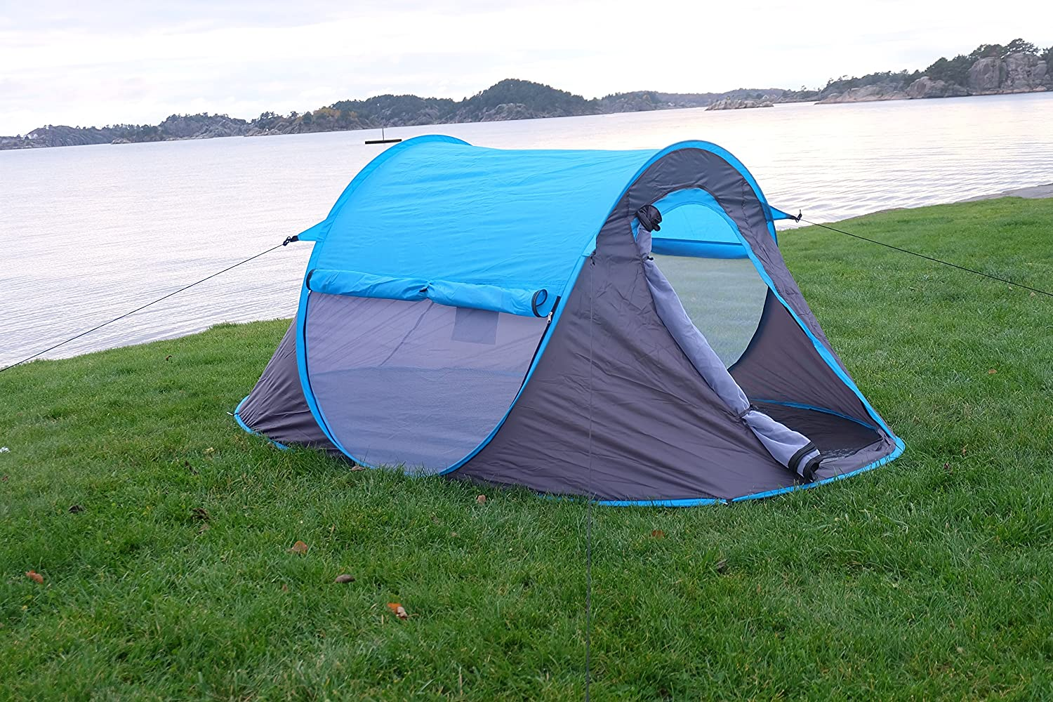 Amazon.com  2 person Pop Up Tent - Opens Instantly in Seconds and is Perfect for Backpacking C&ing or any Other Outdoor Activity. & Amazon.com : 2 person Pop Up Tent - Opens Instantly in Seconds and ...