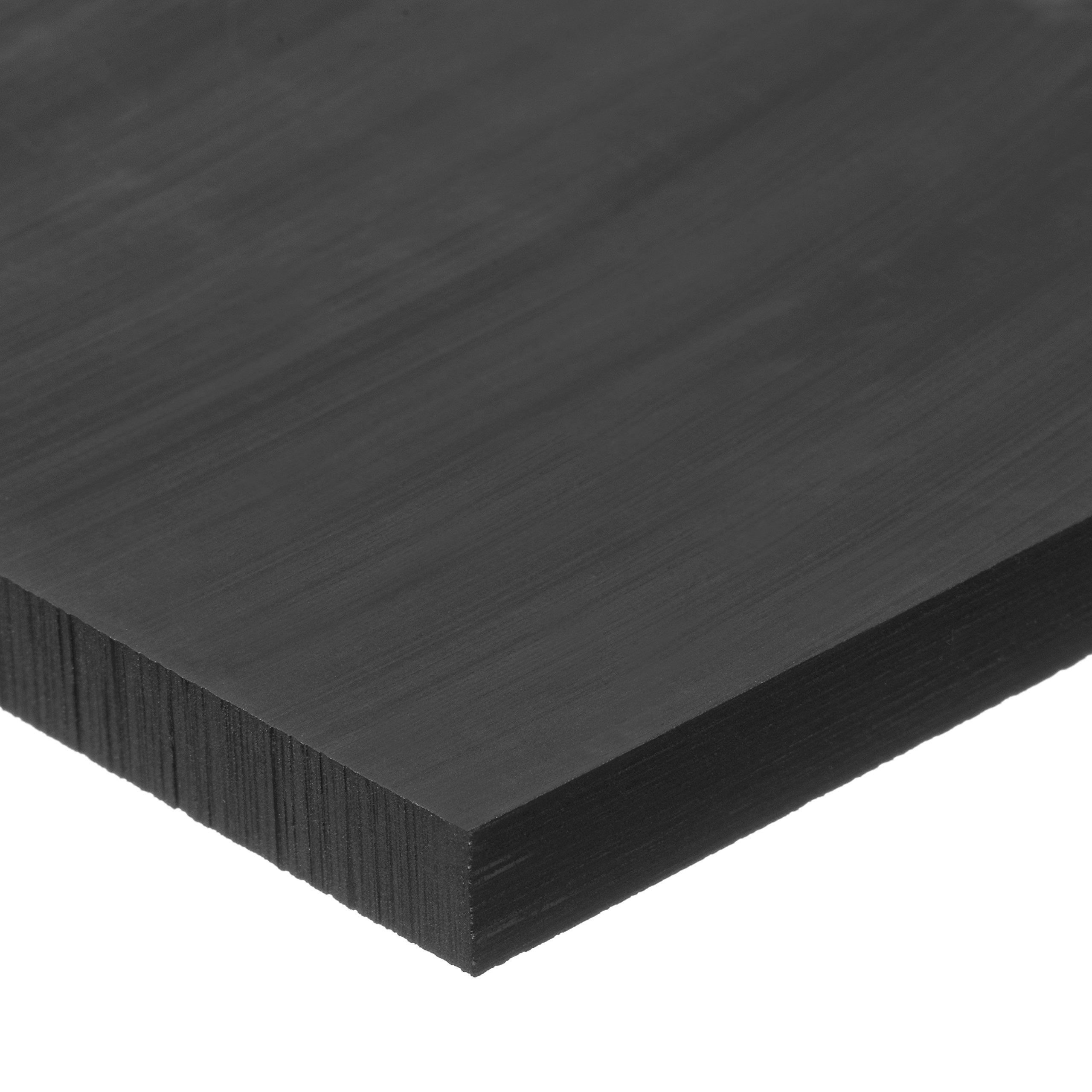 USA Sealing Black Acetal Plastic Bar - 1/2'' Thick x 4'' Wide x 24'' Long by USA Sealing