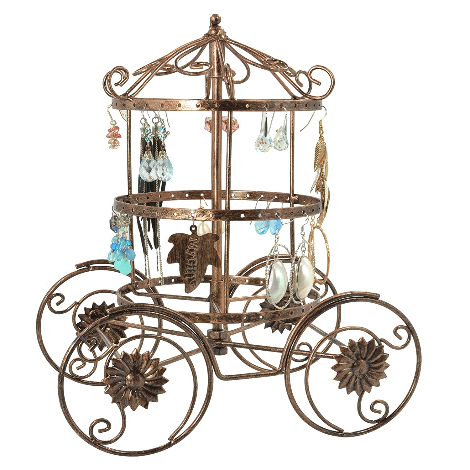 Cinderella Rotating Carriage Jewelry Storage / Earring Organizer / Bracelet Necklace Hanger Display Stand MyGift AX-AY-ABHI-71600