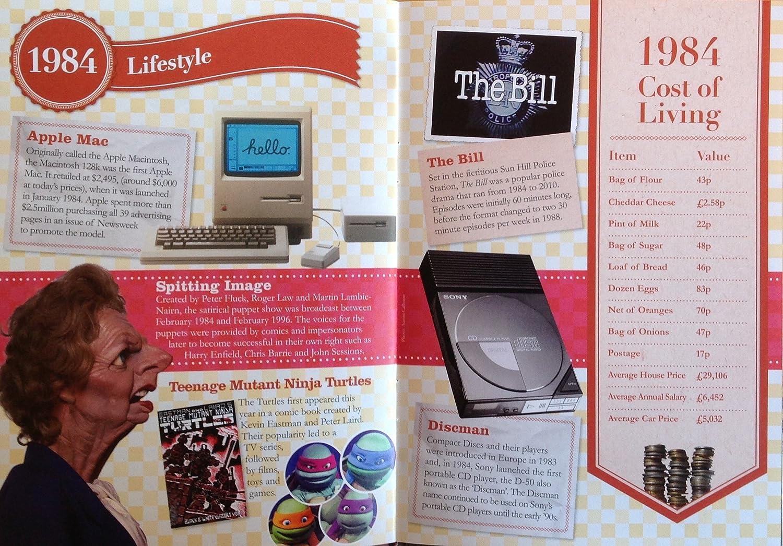 1984 Regalos de cumpleaños o aniversario - 1984 Tarjeta y regalo 4-en-1 - Historia de su año, CD, Descarga de música CD, Importación
