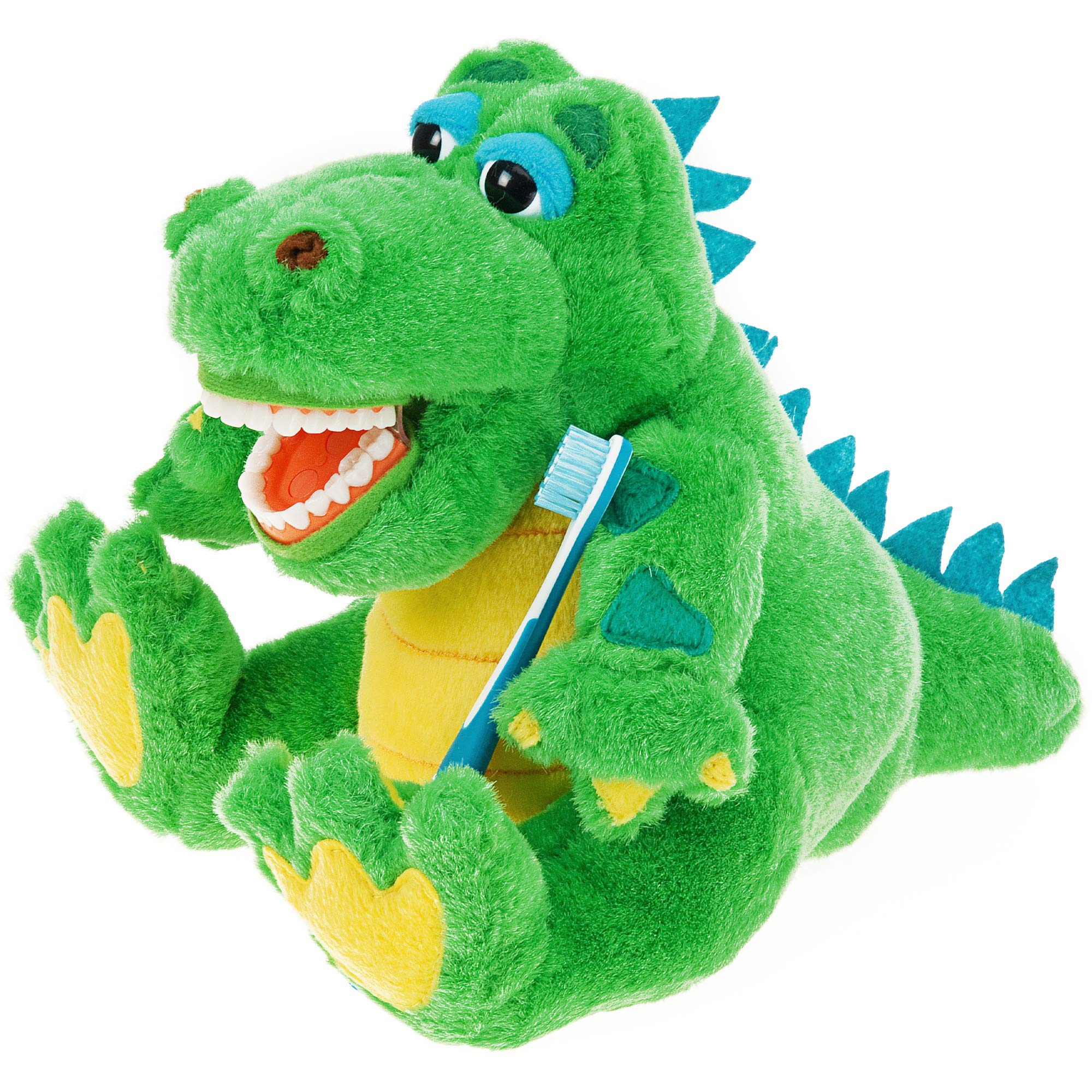 StarSmilez Kids Tooth Brushing Buddy Lil Allie Gator - Plush Dental Education Helper - Teach Children flossing and Overall Care for Mouth and Teeth