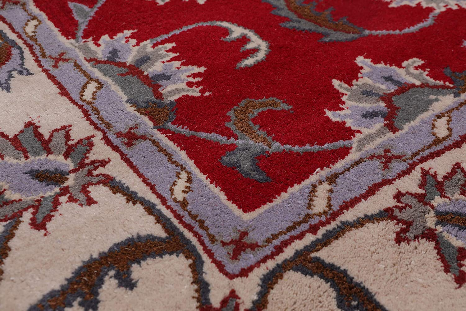 Amazon Com 5 X8 Hand Tufted Wool Floral Kashan Oriental Area Rug Red Beige Color Kitchen Dining