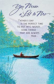 Amazon happy fathers day from your daughter greeting card a you mean a lot to me glad you are in my life happy fathers m4hsunfo