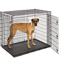 MidWest Homes for Pets XXL Giant Dog Crate | 54-Inch Long Ginormous Dog Crate Ideal for a Great…