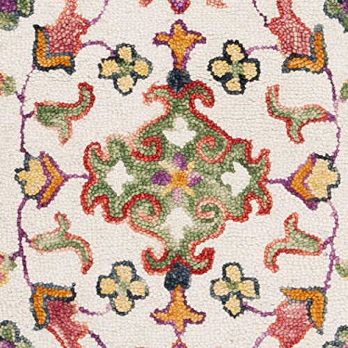 Safavieh Blossom Collection Floral Vines Premium Wool Area Rug, 8 x 10 , Ivory Multicolored
