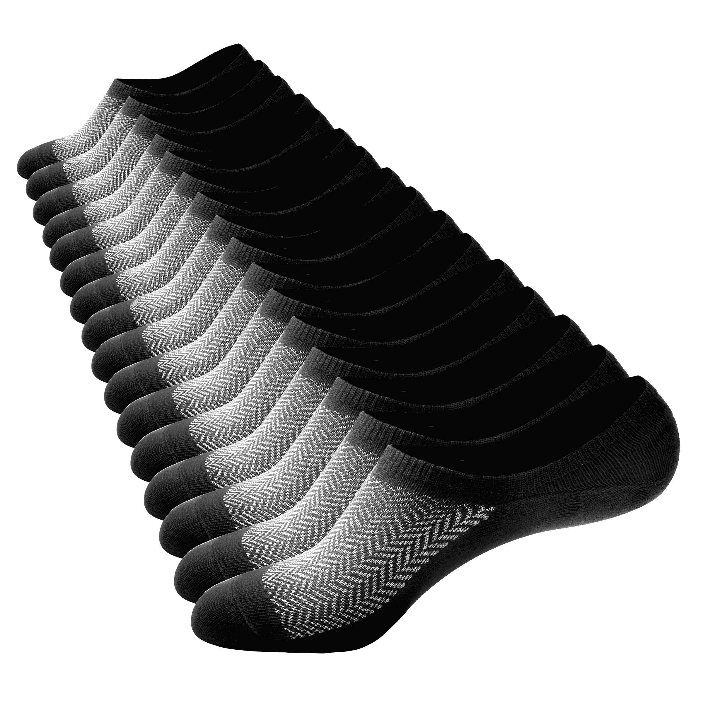 No Show Socks Men Cotton Low Cut Boat Socks - Casual Ankle Non Slip Short Socks Women,8 Pairs 5-13