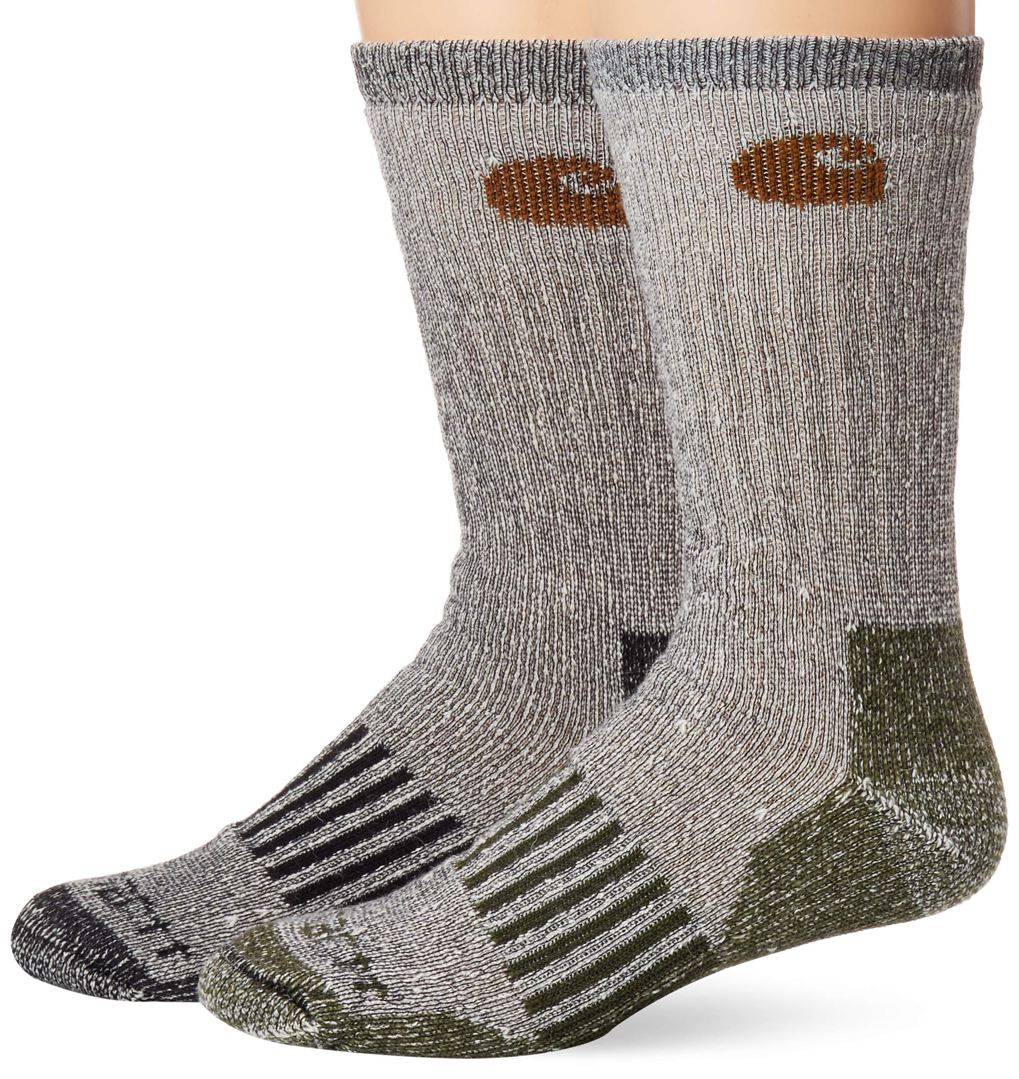 Pack of 4 Carhartt mens A118-4 Cold Weather Wool Blend Crew Socks