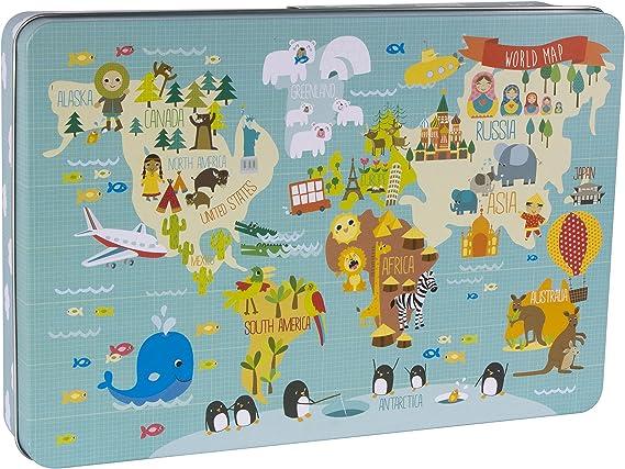 Apli Paper Ref. 14550 Puzzle Mapa Mundi Martina Hogan: Amazon.es ...