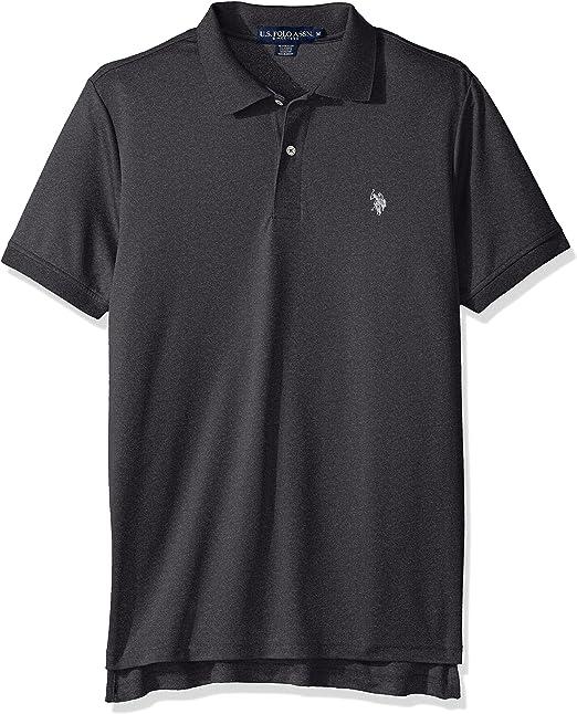 U.S Mens Solid Interlock Short-Sleeve Polo Shirt Polo Shirt Polo Assn