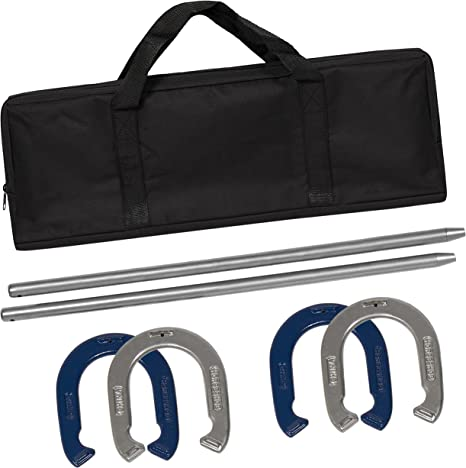 BCP Steel Horseshoe Game Set w// Carrying Case