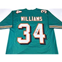 $79 » Ricky Williams Signed Autographed Football Jersey with JSA COA - Miami Dolphins Great - Size XL